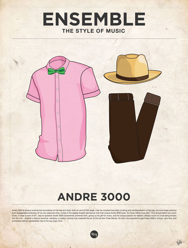 styleofmusic andre3000 Ensemble: The Style of Music (20 Iconic Male Musicians)