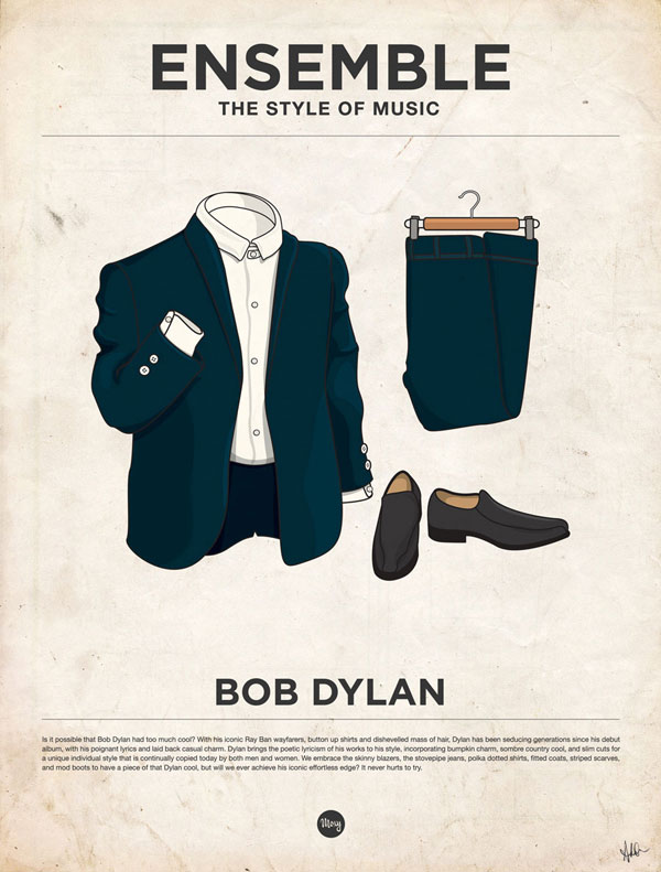 styleofmusic bobdylan Ensemble: The Style of Music (20 Iconic Male Musicians)