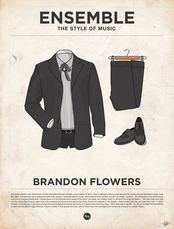 styleofmusic brandonflowers Ensemble: The Style of Music (20 Iconic Male Musicians)