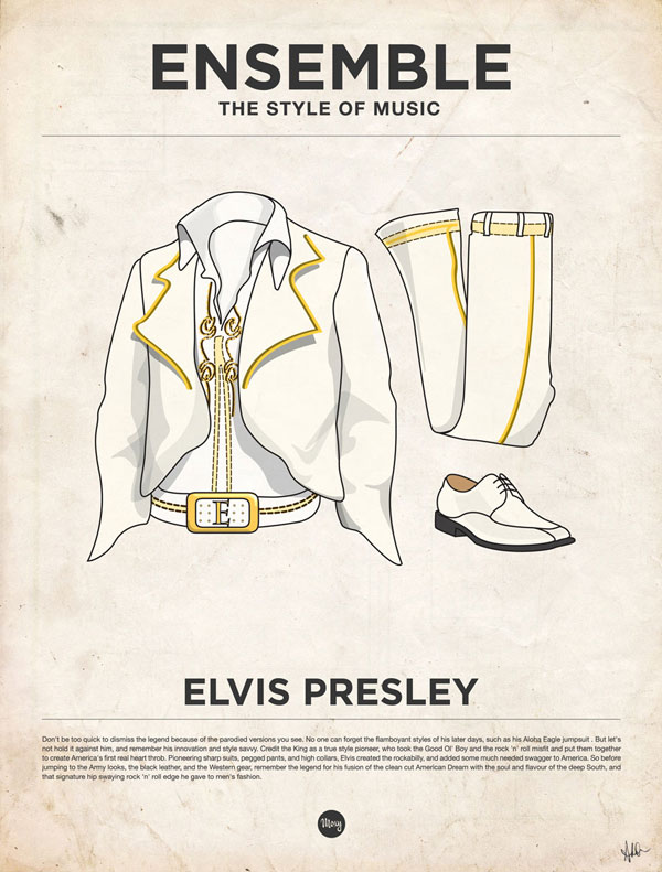 styleofmusic elvis Ensemble: The Style of Music (20 Iconic Male Musicians)