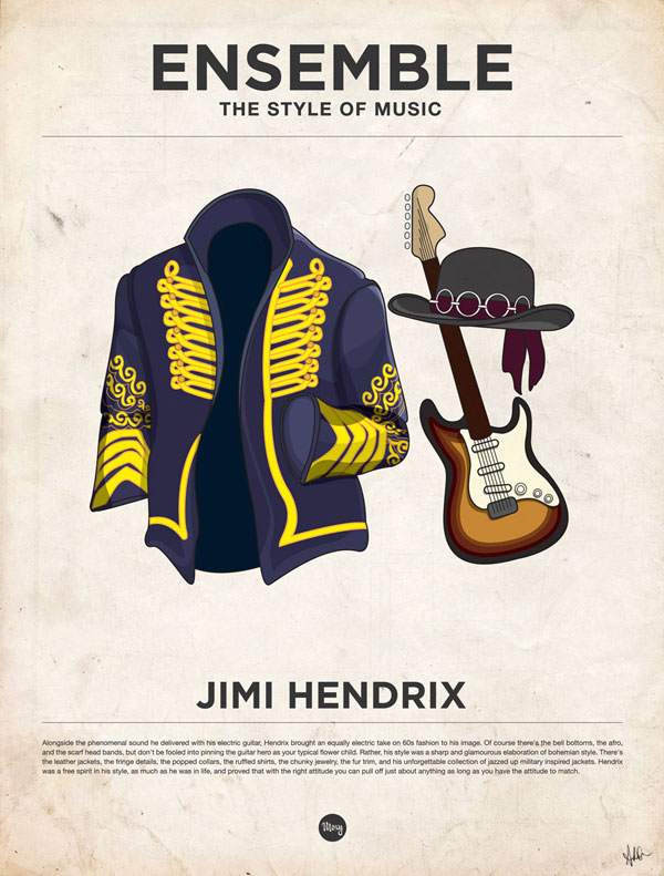 styleofmusic jimihendrix Ensemble: The Style of Music (20 Iconic Male Musicians)