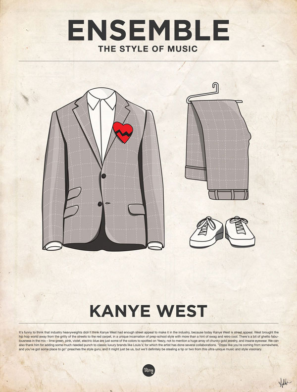 styleofmusic kanyewest Ensemble: The Style of Music (20 Iconic Male Musicians)