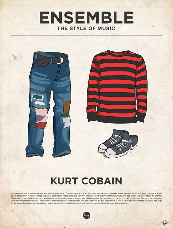 styleofmusic kurtcobain Ensemble: The Style of Music (20 Iconic Male Musicians)