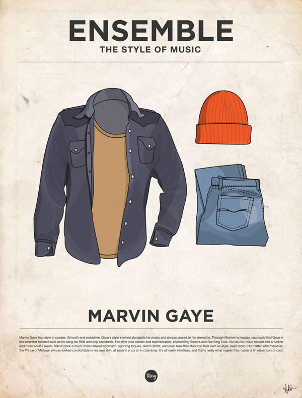 styleofmusic marvingaye Ensemble: The Style of Music (20 Iconic Male Musicians)