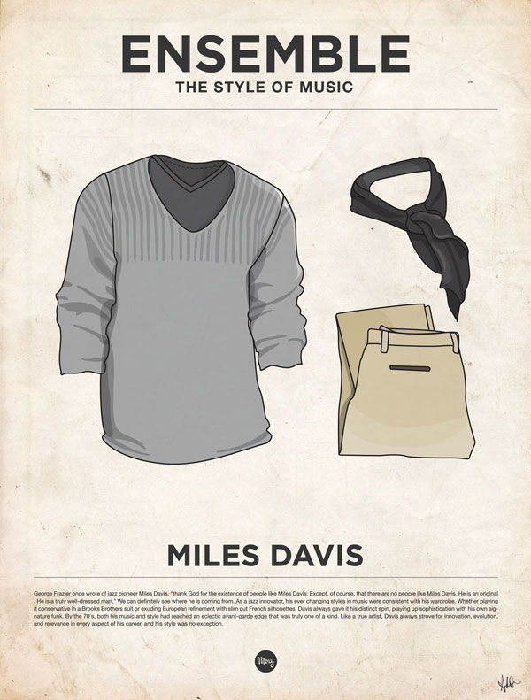 styleofmusic milesdavis Ensemble: The Style of Music (20 Iconic Male Musicians)