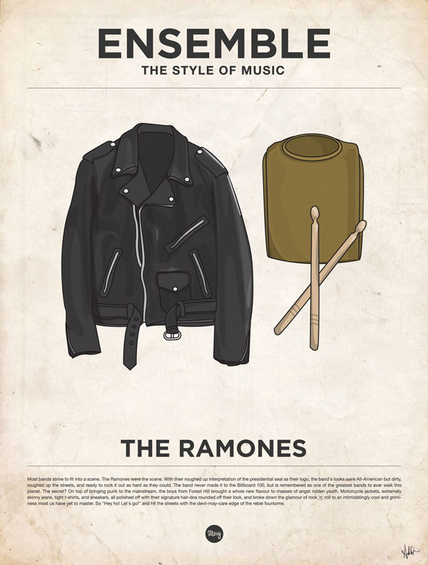 styleofmusic theramones Ensemble: The Style of Music (20 Iconic Male Musicians)